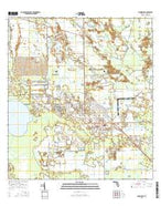 Immokalee Florida Current topographic map, 1:24000 scale, 7.5 X 7.5 Minute, Year 2015 from Florida Map Store