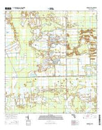 Immokalee SW Florida Current topographic map, 1:24000 scale, 7.5 X 7.5 Minute, Year 2015 from Florida Map Store
