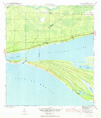 Indian Pass Florida Historical topographic map, 1:24000 scale, 7.5 X 7.5 Minute, Year 1943