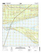 Indian Pass Florida Current topographic map, 1:24000 scale, 7.5 X 7.5 Minute, Year 2015 from Florida Map Store