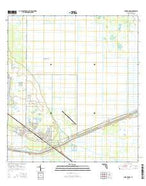 Indiantown Florida Current topographic map, 1:24000 scale, 7.5 X 7.5 Minute, Year 2015 from Florida Map Store