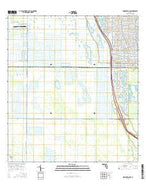 Indiantown NW Florida Current topographic map, 1:24000 scale, 7.5 X 7.5 Minute, Year 2015 from Florida Map Store