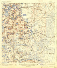 Interlachen Florida Historical topographic map, 1:62500 scale, 15 X 15 Minute, Year 1916