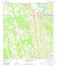 Lake Louisa SW Florida Historical topographic map, 1:24000 scale, 7.5 X 7.5 Minute, Year 1959