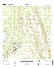 Lake Arbuckle NE Florida Current topographic map, 1:24000 scale, 7.5 X 7.5 Minute, Year 2015