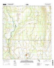Lake Arbuckle SE Florida Current topographic map, 1:24000 scale, 7.5 X 7.5 Minute, Year 2015 from Florida Maps Store
