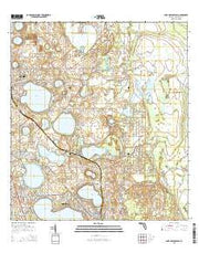Lake Arbuckle SW Florida Current topographic map, 1:24000 scale, 7.5 X 7.5 Minute, Year 2015 from Florida Maps Store