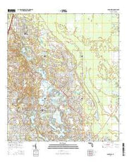 Lake Helen Florida Current topographic map, 1:24000 scale, 7.5 X 7.5 Minute, Year 2015 from Florida Maps Store