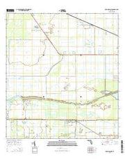 Lake Hicpochee Florida Current topographic map, 1:24000 scale, 7.5 X 7.5 Minute, Year 2015 from Florida Maps Store
