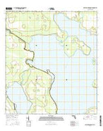 Lake Weohyakapka NE Florida Current topographic map, 1:24000 scale, 7.5 X 7.5 Minute, Year 2015 from Florida Map Store
