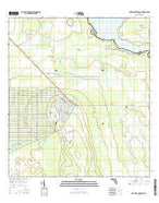Lake Weohyakapka SE Florida Current topographic map, 1:24000 scale, 7.5 X 7.5 Minute, Year 2015 from Florida Map Store