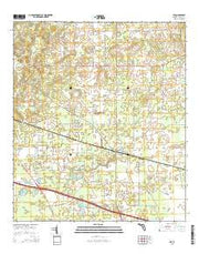 Lee Florida Current topographic map, 1:24000 scale, 7.5 X 7.5 Minute, Year 2015 from Florida Maps Store