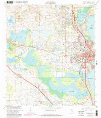 Leesburg West Florida Historical topographic map, 1:24000 scale, 7.5 X 7.5 Minute, Year 1966