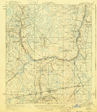 Macclenny Florida Historical topographic map, 1:62500 scale, 15 X 15 Minute, Year 1918