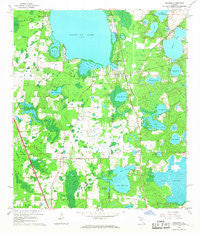 Melrose Florida Historical topographic map, 1:24000 scale, 7.5 X 7.5 Minute, Year 1966