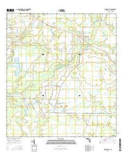 Myakka City Florida Current topographic map, 1:24000 scale, 7.5 X 7.5 Minute, Year 2015 from Florida Maps Store