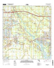 Myakka River Florida Current topographic map, 1:24000 scale, 7.5 X 7.5 Minute, Year 2015 from Florida Maps Store