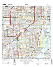 North Miami Florida Current topographic map, 1:24000 scale, 7.5 X 7.5 Minute, Year 2015 from Florida Maps Store
