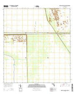North of Lone Palm Head Florida Current topographic map, 1:24000 scale, 7.5 X 7.5 Minute, Year 2015 from Florida Map Store