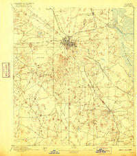 Ocala Florida Historical topographic map, 1:62500 scale, 15 X 15 Minute, Year 1895