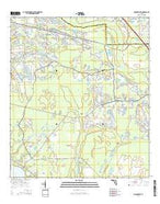 Orangedale Florida Current topographic map, 1:24000 scale, 7.5 X 7.5 Minute, Year 2015 from Florida Map Store