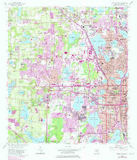 Orlando West Florida Historical topographic map, 1:24000 scale, 7.5 X 7.5 Minute, Year 1956