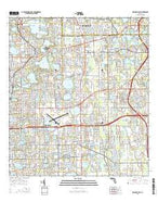 Orlando East Florida Current topographic map, 1:24000 scale, 7.5 X 7.5 Minute, Year 2015 from Florida Map Store