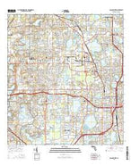 Orlando West Florida Current topographic map, 1:24000 scale, 7.5 X 7.5 Minute, Year 2015 from Florida Map Store