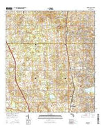 Oxford Florida Current topographic map, 1:24000 scale, 7.5 X 7.5 Minute, Year 2015 from Florida Map Store