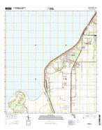 Pahokee Florida Current topographic map, 1:24000 scale, 7.5 X 7.5 Minute, Year 2015 from Florida Map Store
