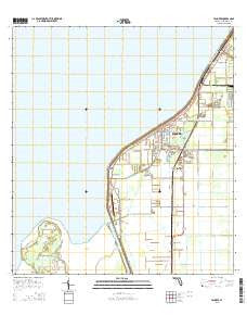 Pahokee Florida Current topographic map, 1:24000 scale, 7.5 X 7.5 Minute, Year 2015