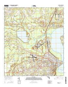 Palatka Florida Current topographic map, 1:24000 scale, 7.5 X 7.5 Minute, Year 2015