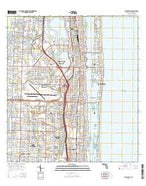 Palm Beach Florida Current topographic map, 1:24000 scale, 7.5 X 7.5 Minute, Year 2015 from Florida Map Store