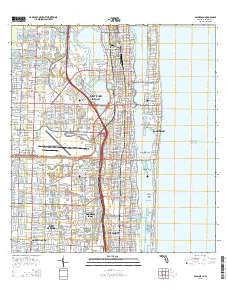 Palm Beach Florida Current topographic map, 1:24000 scale, 7.5 X 7.5 Minute, Year 2015