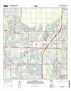 Palm Beach Farms Florida Current topographic map, 1:24000 scale, 7.5 X 7.5 Minute, Year 2015 from Florida Map Store