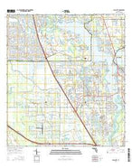 Palm City Florida Current topographic map, 1:24000 scale, 7.5 X 7.5 Minute, Year 2015 from Florida Map Store