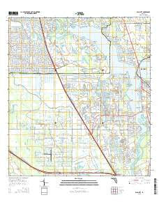 Palm City Florida Current topographic map, 1:24000 scale, 7.5 X 7.5 Minute, Year 2015