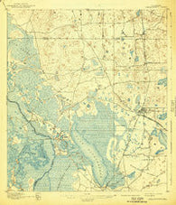 Panasoffkee Florida Historical topographic map, 1:62500 scale, 15 X 15 Minute, Year 1895
