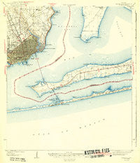 Pensacola Florida Historical topographic map, 1:62500 scale, 15 X 15 Minute, Year 1942