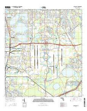 Pine Castle Florida Current topographic map, 1:24000 scale, 7.5 X 7.5 Minute, Year 2015 from Florida Maps Store