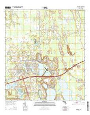 Polk City Florida Current topographic map, 1:24000 scale, 7.5 X 7.5 Minute, Year 2015 from Florida Maps Store