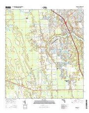 Samsula Florida Current topographic map, 1:24000 scale, 7.5 X 7.5 Minute, Year 2015 from Florida Maps Store