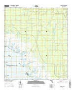 Shired Island Florida Current topographic map, 1:24000 scale, 7.5 X 7.5 Minute, Year 2015 from Florida Map Store