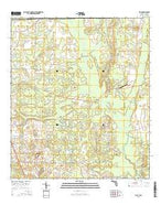 Sills Florida Current topographic map, 1:24000 scale, 7.5 X 7.5 Minute, Year 2015 from Florida Map Store