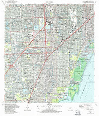 South Miami Florida Historical topographic map, 1:24000 scale, 7.5 X 7.5 Minute, Year 1988