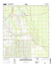 Spuds Florida Current topographic map, 1:24000 scale, 7.5 X 7.5 Minute, Year 2015 from Florida Maps Store