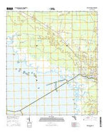Steinhatchee Florida Current topographic map, 1:24000 scale, 7.5 X 7.5 Minute, Year 2015 from Florida Map Store