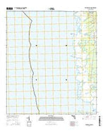 Steinhatchee SW Florida Current topographic map, 1:24000 scale, 7.5 X 7.5 Minute, Year 2015 from Florida Map Store