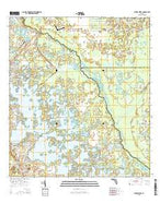 Stokes Ferry Florida Current topographic map, 1:24000 scale, 7.5 X 7.5 Minute, Year 2015 from Florida Map Store