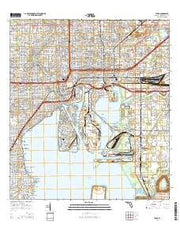 Tampa Florida Current topographic map, 1:24000 scale, 7.5 X 7.5 Minute, Year 2015 from Florida Maps Store